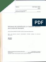 NTP ISO 9004 2001 SISTEMAS DE GESTION DE LA CALIDAD. Directrices para la mejora del desempeño