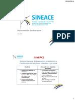 SINEACE - Presentación UPAO 2014