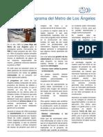 El Caso Del Programa Del Metro de Los Angeles