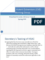 Countering Violent Extremism (CVE) Working Group Homeland Security Advisory Council Spring 2010