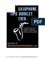 Best Saxophone Tips Booklet Ever