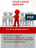 Qualities of Good Manager