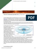 UFO gravidade manipulação de ressonância eletromagnética
