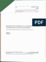 NTP 833.980 2008 SISTEMAS de GESTION de LA CALIDAD. Guia Para La Implementacion de Sistemas de Indicadores