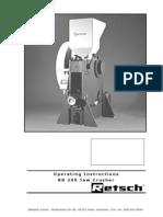 Manual de utilizare concasor BB200 Retsch