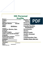 MD Personal Profile