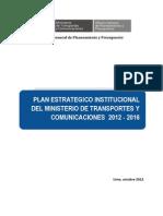 Plan Estrategico Institucional Del Ministerio de Transportes y Comunicaciones 2012 - 2016
