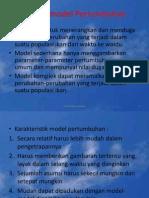 Dinamika Populasi JPK UNSOED.6 (Model-Model Pertumbuhan)