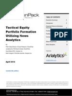 Tactical Equity Portfolio Formation Utilizing News Analytics