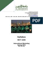 mkt 4306 Spring 2014 (1)