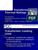 Power transformers Thermal rating