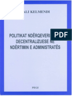 Politikat Ndërqeverisëse-Decentralizuese në Ndërtimin e Administratës