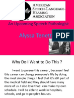 an upcoming speech pathologist att3