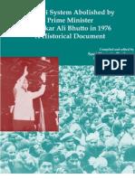 Sardari System Abolished by Prime Minister Zulfikar Ali Bhutto