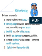 sdi for writing