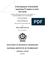 Design and Development of Downdraft Gasifier for Operating CI Engine on Dual Fuel Mode