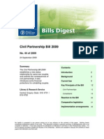 Civil Partnership Bills 2009  - Digest for Oireachtas Members