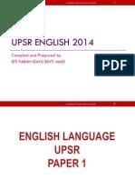 UPSR English 2014