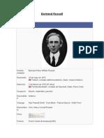 Bertrand Russell, referencias biográficas.