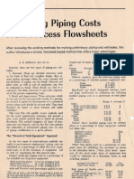 Estimating Piping Costs From Process Flow Sheets