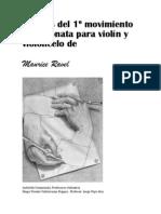 Análisis del 1º movimiento de la sonata para violín y violoncelo de