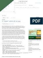 O _objeto_ Admin de Um App