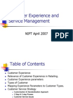 Customer Experience and Service Management