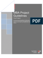 Project Guidelines for MBA