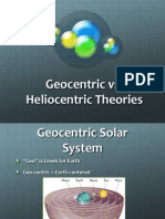 geo vs  helio theories