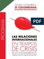 II Congreso de La Red Colombiana de Relaciones Internacionales.