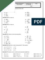 Algebra - revisão de operações fundamentais