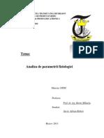 Analiza de Parametri Fiziologici