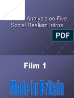 Textual Analysis on Five Social Realism Intros