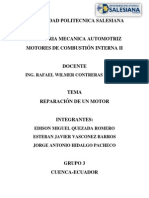 Informe de Motores Reparacion
