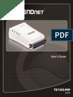 TRENDnet UG_TE100-P1P(v3.01) User's Guide