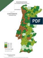 Mapa IDH Portugal 2004