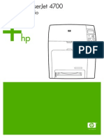 Manual Hp Color LaserJet 4700