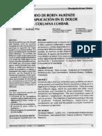 Método  de Robin Mckenzie y su aplicación en el dolor de la columna lumbar