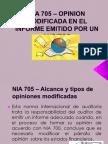 Nia 705 - Opinion Modificada en El Informe