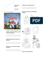 Avaliativa Gnomeu e Julieta 2bimestre
