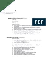 customized resume