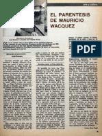El Paréntesis de Mauricio Wacquez