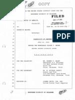 Rudd LSD Sentencing Transcript 07-26-2005