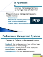 Performance Apprisal  HRM