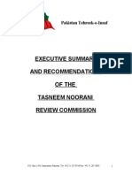217639114 Tasneem Noorani Review Commission Summary and Recommendations