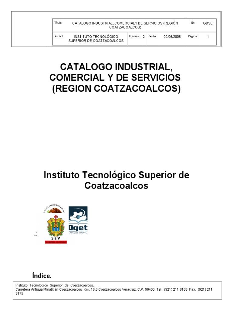 Catalogo Industrial Region Coatzacoalcos