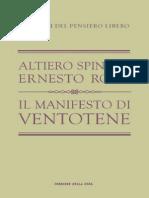 Il Manifesto di Ventotene di Altiero Spinelli ed Ernesto Rossi