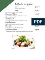 menu orazio