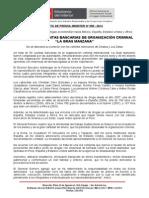 """CONGELAN 50 CUENTAS BANCARIAS DE ORGANIZACIÓN CRIMINAL """"LA GRAN MANZANA"""".doc"""