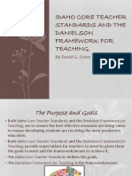 idaho core teacher standards and the danielson framework